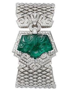 Tendance Bracelets – Cartier Emerald and Diamond bracelet… Tendance   idée  Bracelets Description Cartier Emerald and Diamond bracelet 9538e540f0