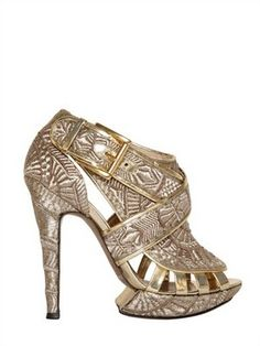 ... Kirkwood 120MM Metallic Embroidered Sandals, $2,313 (Sold Out
