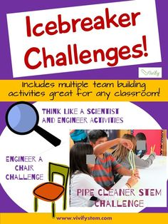 Great for back to school! STEM challenges are a great icebreaker and team building activity for any classroom. These simple engineering design challenges and activities get your students moving, thinking, and collaborating! Working as a team, they will learn lessons in communication, innovation, hidden assumptions, and creativity that are central to the engineering process. No math or science background needed and costs are minimal!