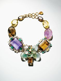IRADJ MOINI  Fluorite, amethyst, citrine and quartz flower necklace