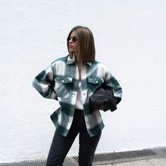 Flannel Shirt Outfit, Jacket Outfit, Plaid Outfits, Cute Comfy Outfits, Plaid Jacket, Fall Fashion Outfits, Mode Outfits, Trendy Outfits, Winter Outfits