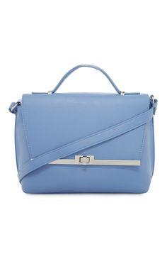 Primark - Hemelsblauwe handtas met metalen draaislot
