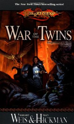 War of the Twins (Dragonlance Legends, Vol. 2) by Margaret Weis,http://www.amazon.com/dp/0786918055/ref=cm_sw_r_pi_dp_gchhtb1XA4QNC4E0