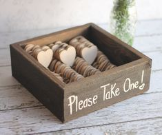 Rustic Wedding Favors Wood Heart Magnets But the initials of the bride and groom and the date of the wedding