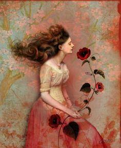 Blooming Scent by Catrin Welz-Stein a German Graphic Designer living in Malaysia. She creates amazing surreal illustrations from vintage photos