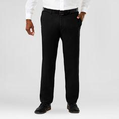 Haggar H26 Men's Big & Tall Sustainable Chino Pants Black 44x36