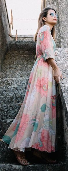 Floral Maxi Dress by Collage Vintage