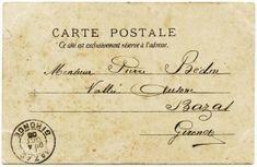 free printable digital image design resource ~ vintage French postcard back