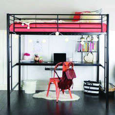 Loft Bunk Beds with Desk . Loft Bunk Beds with Desk . Cool Loft Bed Design Ideas for Small Room 2 Futon Bunk Bed, Bunk Bed With Desk, Loft Bunk Beds, Modern Bunk Beds, Metal Bunk Beds, Bunk Beds With Stairs, Full Bunk Beds, Kids Bunk Beds, Loft Bed Desk