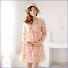 Casual-Loose-fit-Summer-Lace-Crochet-hollow-out-pregnancy-dresses