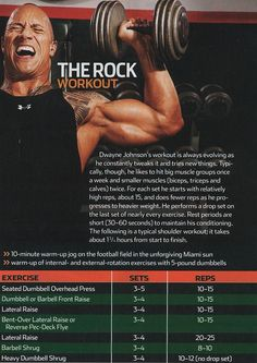 "SHOULDERS WORKOUT..WITH ""THE ROCK"""