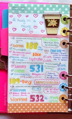 She's Eclectic: My week in my Filofax #5 - close up