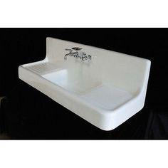 Cast Iron Drainboard Farmhouse Sink. I love this!