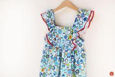 Handamde sewed vintage girl dress