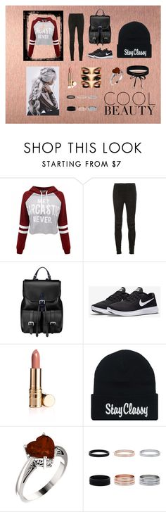"""""""Stay Cool"""" by rayofsunshine0504 ❤ liked on Polyvore featuring WithChic, Yves Saint Laurent, Aspinal of London, NIKE, Boohoo, Sweatshirt, sarcastic, messybraid and coolstyle"""