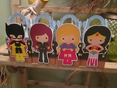 Super Duper Girls Gable Boxes Set of 12 by zbrown5 on Etsy