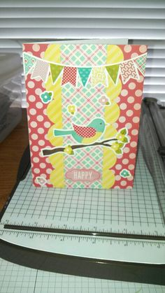 A card I made using the Echo Park Sweet Girl collection!