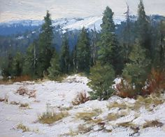 Winter's Chill by Kathleen Dunphy Oil ~ 10 x 12