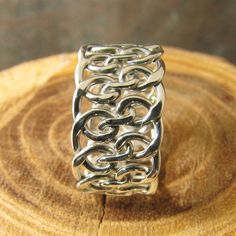 Spiral Woven Argentium Sterling Silver Ring by DogsKinJewelry, $84.00
