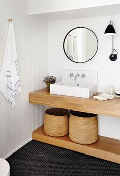 Small Bathroom Remodel Ideas for Washing in Style 2018 Shower ideas bathroom Bathroom tile ideas Small bathroom decor Master bathroom remodel Small bathroom storage Guest bathroom Saving And After Men Renters Laundry In Bathroom, Basement Bathroom, Bathroom Interior, Wood Bathroom, Wood Sink, Bathroom Storage, Bathroom Black, Bathroom Sinks, Bathroom Baskets