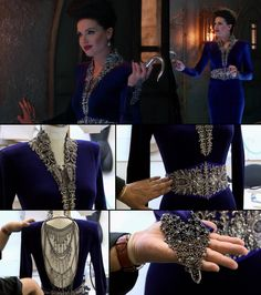 Regina, the Evil Queen // Her blue dress in detail...