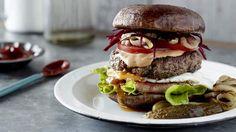 Pete Evans' 'Ultimate Occa Burger'.