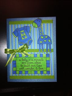 Welcome Baby Card.