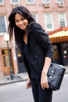 "Beauty Secrets from Chanel Iman ""I wash my face every night with #dermalogica and I put vitamin E on my face. My eyebrow kit from #Anastasia doesn't leave my purse. I don't wear a lot of makeup, just little touches here and there."""