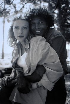 Cate Blanchett And Ernie Dingo, Heartland Set, Brooklyn, NSW   Juno Gemes Australia