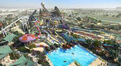 Ferrari World, Abu Dhabi 15 Amusement Parks You Need To Visit Before You Die Ferrari World Abu Dhabi, Aqua Pools, Best Amusement Parks, Water Slides, Tenerife, Rafting, Dubai, City Photo, Tours