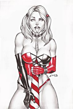 HARLEY QUINN 2 SALE ON E-BAY NOW !!! by carlosbragaART80 on deviantART