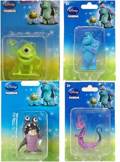 New - Disney Monsters Inc.Figures (Set of 4) Boo, Sully, Mike & Randal   #Disney