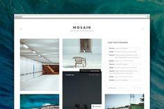 Check out Mosaik tumblr theme by Pixel Revel on Creative Market