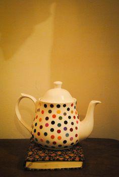 Polka dotted teapot