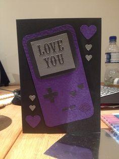 Gameboy geeky love boyfriend/girlfriend card by Bethany Looijenga