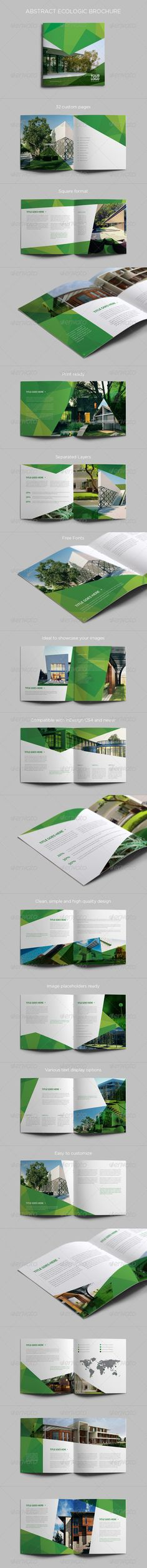 Abstract Ecologic Brochure — InDesign INDD #ecologic #easy • Available here → https://graphicriver.net/item/abstract-ecologic-brochure/7765796?ref=pxcr