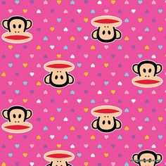 Paul Frank Julius Mini Hearts Pink FAT Quarter | eBay