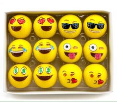 2-Ply Professional Practice Golf Balls 12 Pack Emoji Balls New