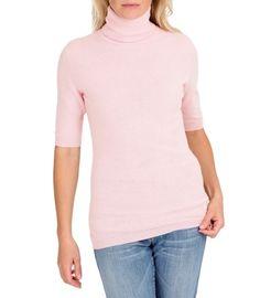 Cashmere & Merino Short Sleeved Turtle Neck Sweater
