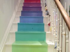 Best Rainbow Stairs On Pinterest Stairs Kid Loft Beds And 400 x 300