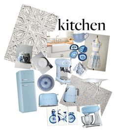 """anthropology sponsored kitchen"" by kubalfamily on Polyvore featuring interior, interiors, interior design, home, home decor, interior decorating, Anthropologie, Smeg, Jayson Home and Ballard Designs"