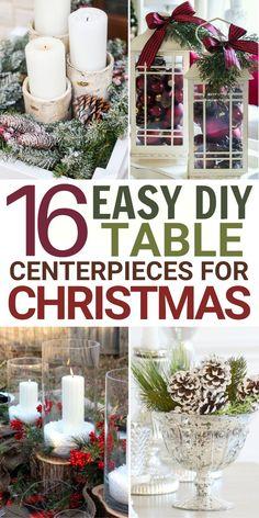 16 Christmas Centerpieces DIY Ideas