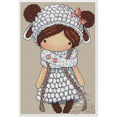 #mika__mila_katya #magic__dolls #crossstitch #вышивка @magic__dolls Dolly/Долли 65*98 stitch, 13 DMC color, cross stitch, backstitch, french knot