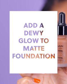 How to Add a Dewy Glow to a Matte Foundation #blinkbeauty #makeuptutorial #beautytutorial #mattefoundation #dewyskin