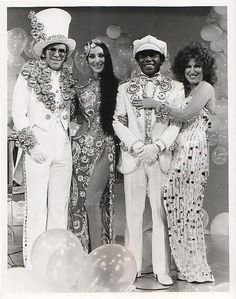 Cher, the solo variety series following her divorce from Sonny Bono, premiered on February 12, 1975 on CBS. Cher's guests were Elton John, Flip Wilson & Bette Midler.