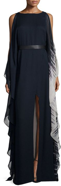 Shop for Cold-Shoulder Ombre Caftan Gown by Halston at ShopStyle. Now for Sold Out.
