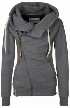 Lovable Fashion: Beautiful Grey Women's Hoodie...I want this