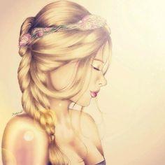 cartoon fashion blond girl - Google-søgning