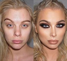 20 Incredible Makeup Transformations That Have Us Shook undefined Asian Makeup Prom, Prom Makeup, Contour Makeup, Eye Makeup, Hair Makeup, Makeup Art, Celebs Without Makeup, Makeup Pictorial, Makeup Before And After