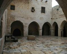 After the Battle of Montgisard, King Baldwin IV collected a marvelous booty and then returned triumphant to Jerusalem. [Frankish Courtyard in Jerusalem]